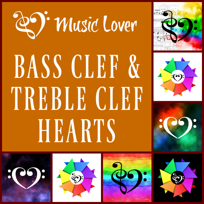 Bass Clef Treble Clef Hearts
